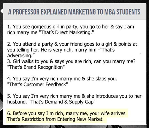 Marketing Explained by Professor funny picture