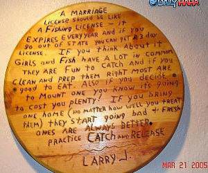 Marriage License funny picture