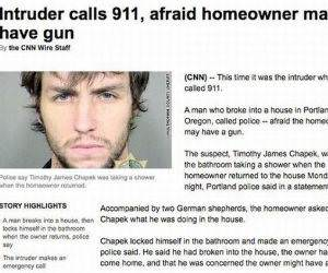 Frightened Intruder funny picture
