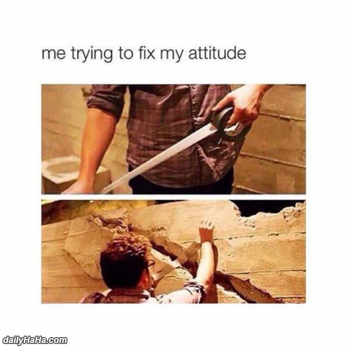 me trying to fix my attitude funny picture