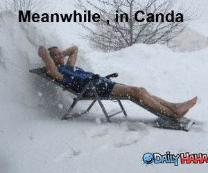 Meanwhile in Canada funny picture