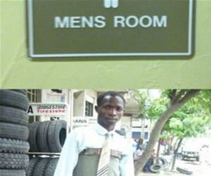 mens room funny picture
