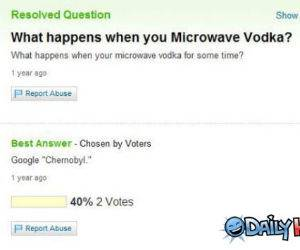 Microwave Vodke funny picture
