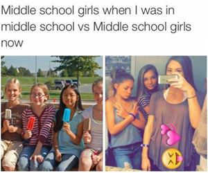middle school girls funny picture