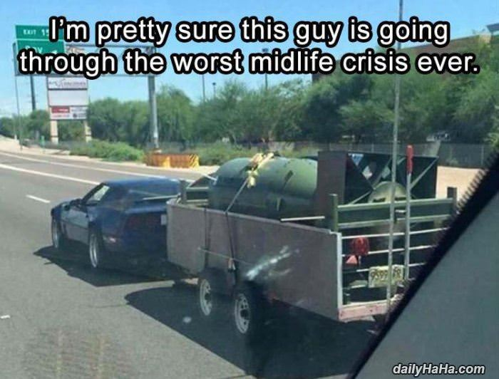 midlife crisis in action funny picture