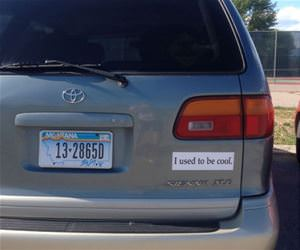 mini van bumper sticker funny picture