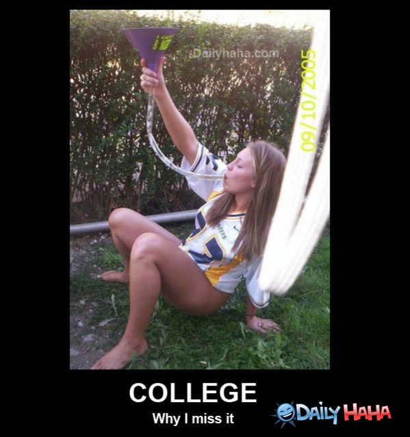 I Miss College funny picture