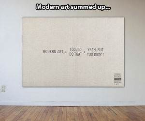 Modern Art Summed Up funny picture