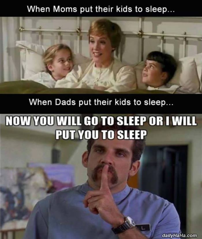moms and dads at bed time funny picture