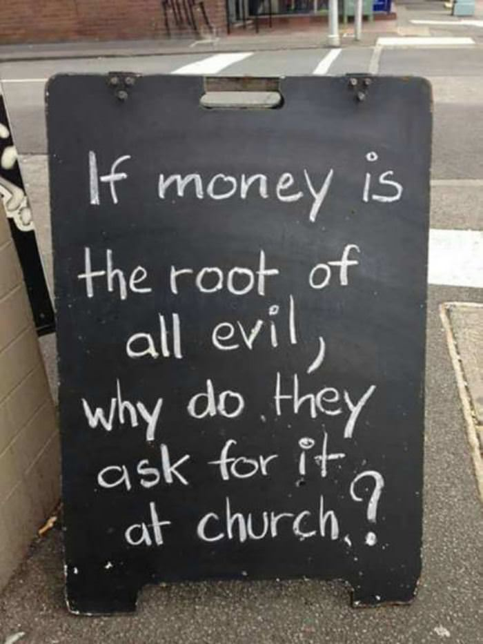 money is the root of all evil funny picture