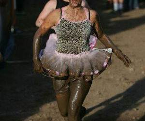 Muddy Chick Running