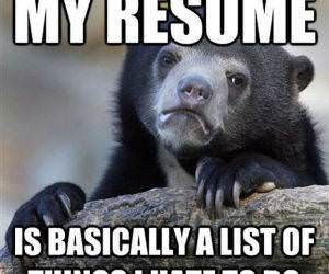 My Resume funny picture