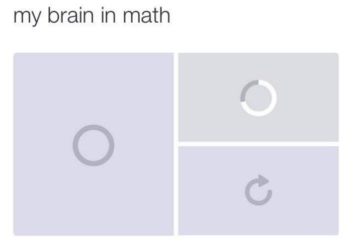 my brain on math funny picture
