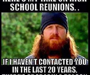 my take on high school reunions funny picture