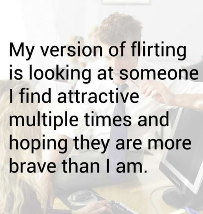 my version of flirting funny picture