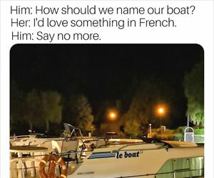 naming the new boat