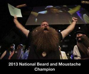 National Bearded Champ funny picture