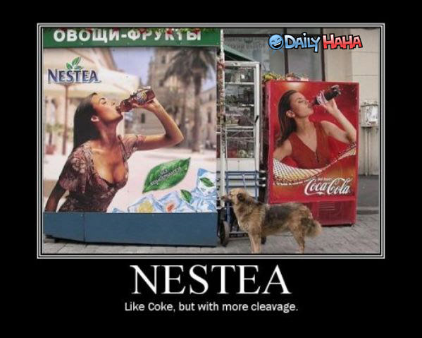 Nestea Cleavage Funny Picture