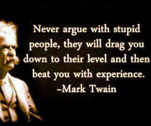 never argue with stupid people funny picture