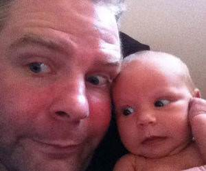Dad and his Newborn Photos funny picture