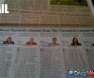 Newspaper Fail funny picture