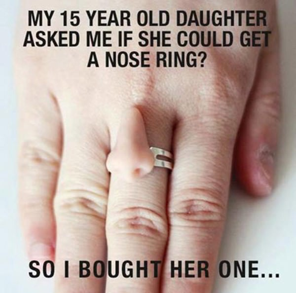 Nice Nose Ring Funny Picture