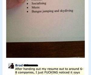 Resume Interests funny picture