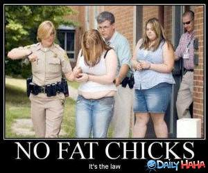 No Fat Chicks funny picture