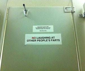 No Fart Laughing funny picture