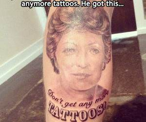 No More Tattoos Tattoo funny picture