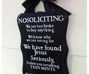 No Soliciting funny picture