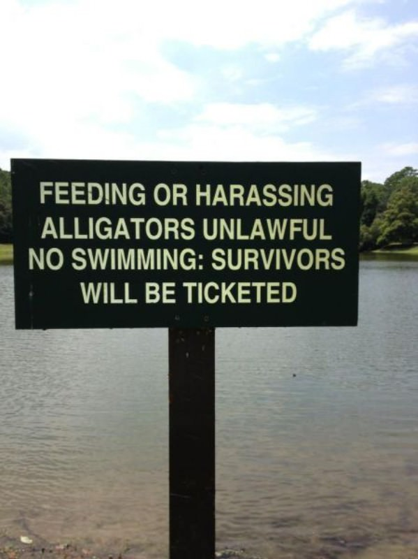 No Swimming funny picture