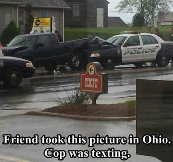 No Texting and Driving funny picture