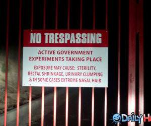 No Trespassing funny picture