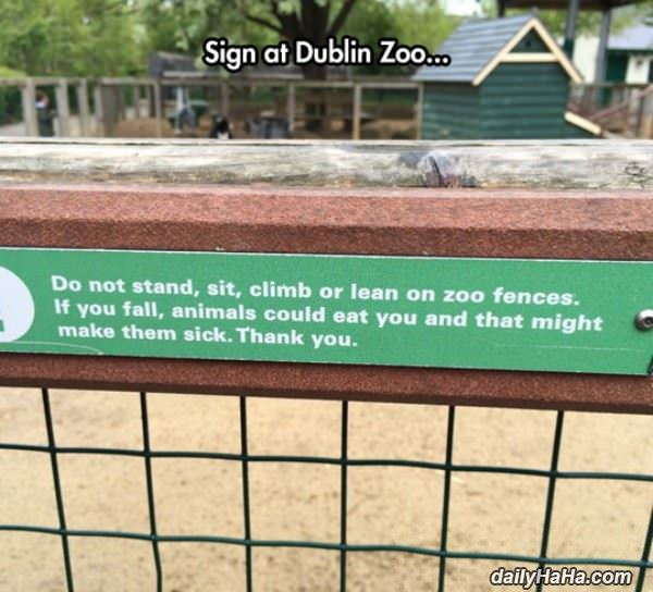 no leaning on the fences funny picture