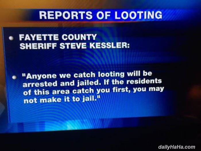 no looting here funny picture