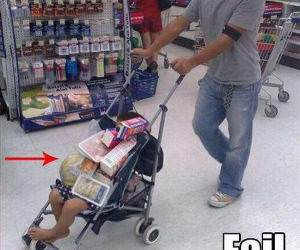 No Shopping Carts Funny Picture