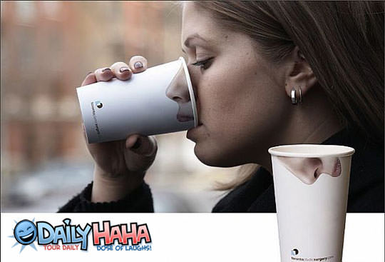 Nose Coffee Cup
