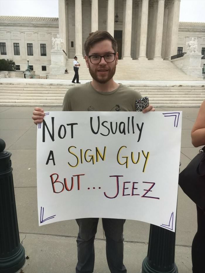 not a sign guy