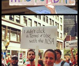 NSA Protesters funny picture