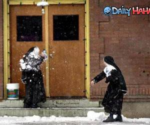 Nun Snowball Fight