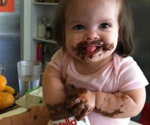 nutella kid funny picture