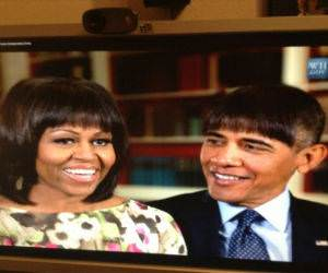 Obama with Bangs funny picture