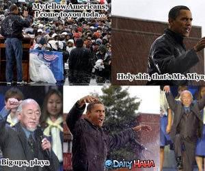 Obama - Miyagi - Funny Picture