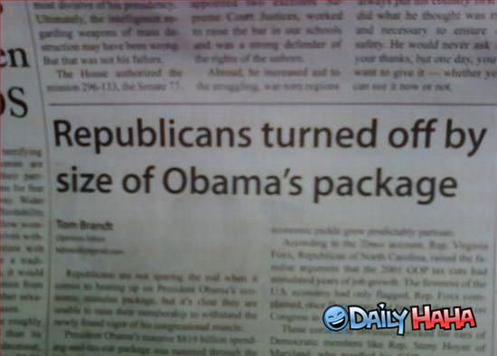 Obamas Package funny picture