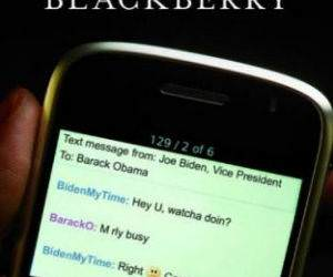 Obamas Blackberry funny picture