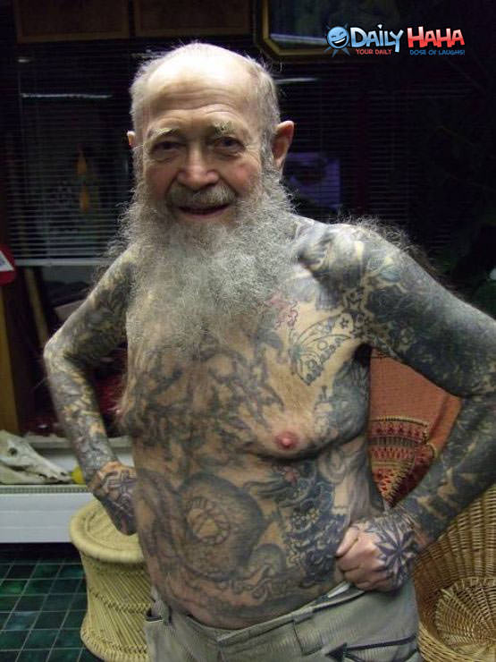 Old Men with Tattoos