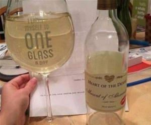 one glass a day funny picture