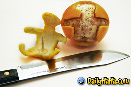 Orange Peel Dude Happy