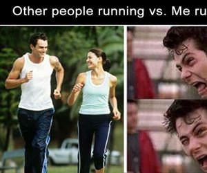 other people vs me running